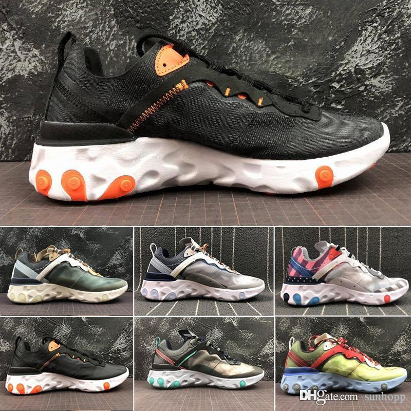nike Air max Epic React Element 87 2019 New React Element Undercover Uomo Scarpe da corsa Vela Light Bone Blu Chill Solar Antracite Nero Donna Designer Sneaker sportiva GH684F