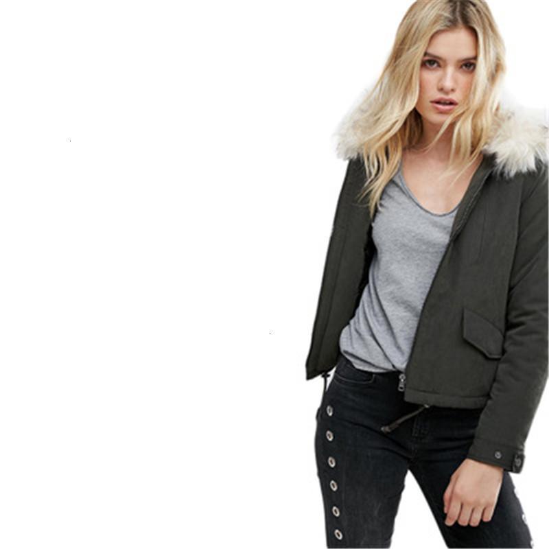 осень и зима Новый европейский американский стиль простой повседневная женская утолщение свободные большой размер хлопок одежда куртка G96