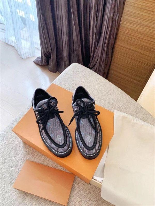 Louis Vuitton LV shoes 2020 Moda Günlük Ayakkabılar Flats Moda Kalın Kösele Yürüyüş Ayakkabı Dış Mekan Günlük Elbise Parti Sneakers