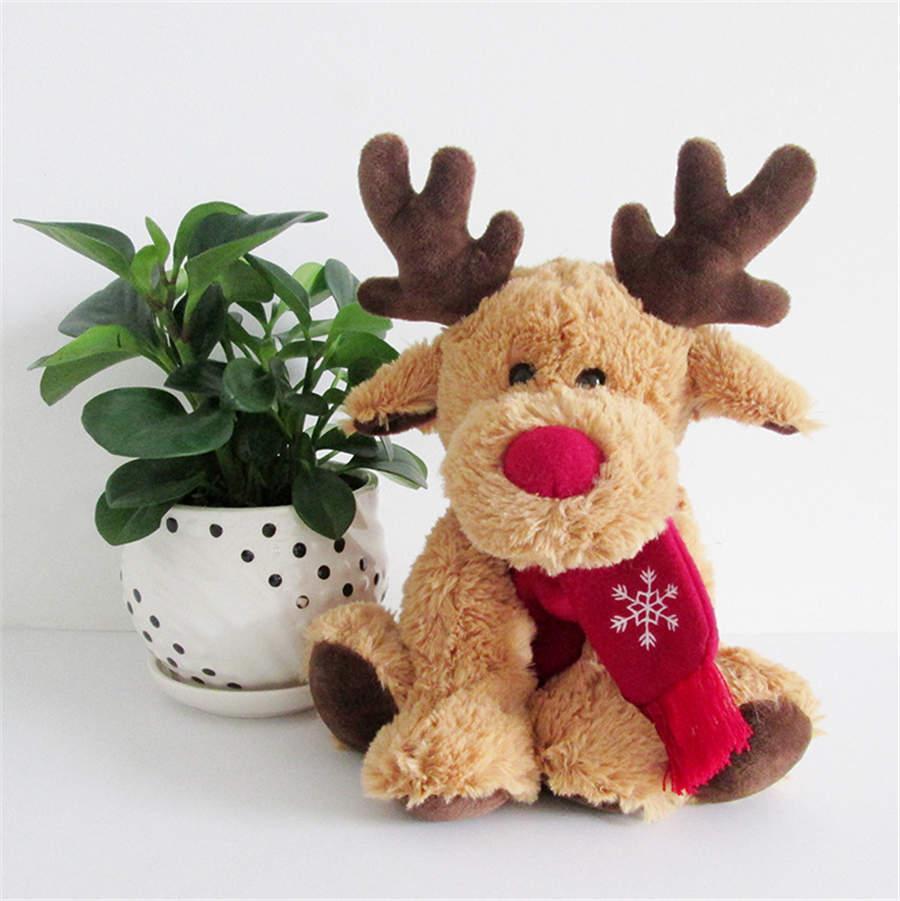 Articoli da regalo bel Natale, renne sciarpa peluche ripiene Doll Toy casa della decorazione del sofà per i bambini accessori decorativi casa di New