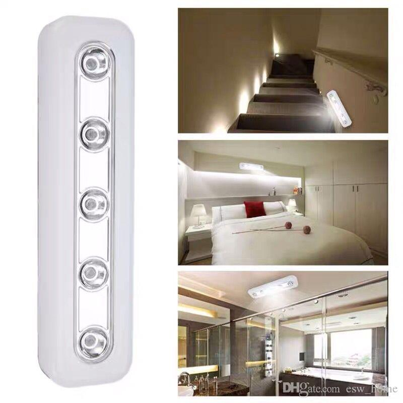 LED Touch Operated Battery Stick On Wall Cabinet Lamp Under Cupboard Night Light
