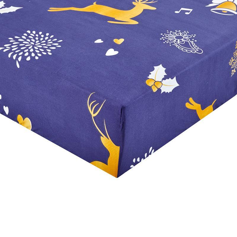80-220cm Moda de impresión colchón de la cama cubierta impermeable Protector de colchón Pad Equipada Hoja Separado Ropa de cama de agua con elástico