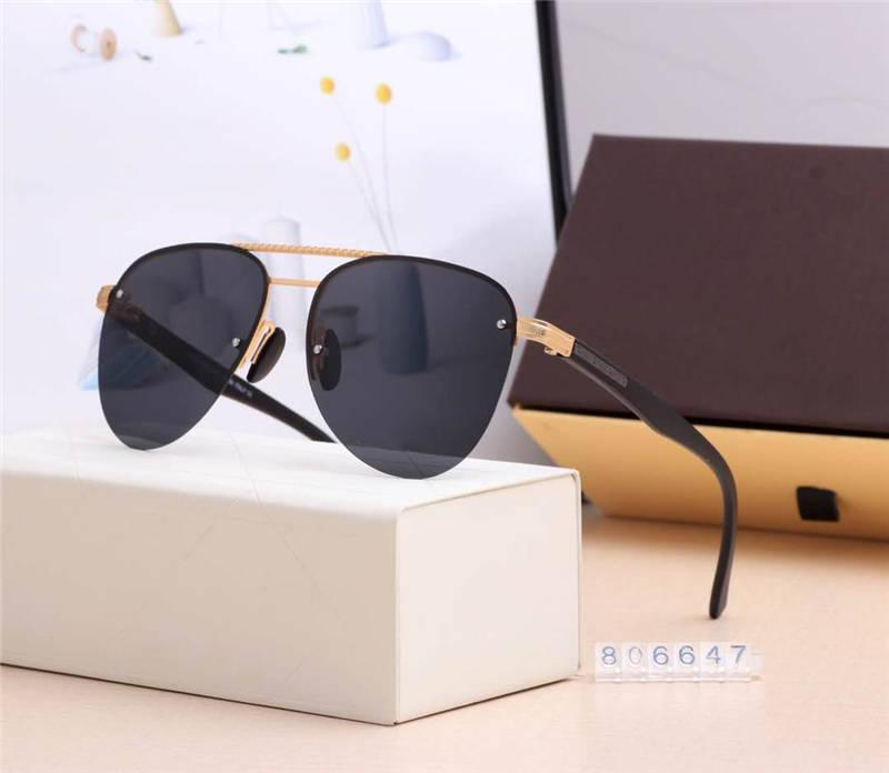 نظارات الصيف موضة النظارات الشمسية عارضة رجل إمرأة شاطئ حملق نظارات UV400 806647 5Color جودة عالية مع Box22