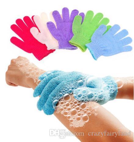 Spa Bath For Peeling Exfoliating Mitt Glove For Shower Scrub Gloves Resistance Body Massage Sponge Wash Skin Scrubber Free Shipping