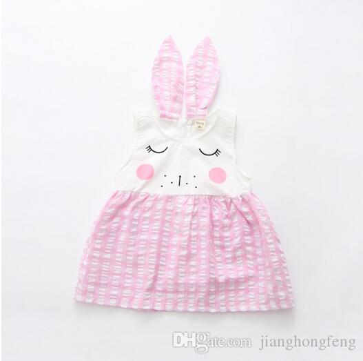 2019 nouveaux vêtements pour enfants 2019 été nouvelles filles en coton robe sans manches bébé dessin animé princesse robe vêtements pour enfants