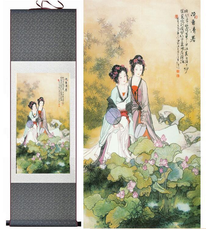 China paintingTraditional Chinese Pretty Girls Painting Home Office Decoration Beautifull Women Painting