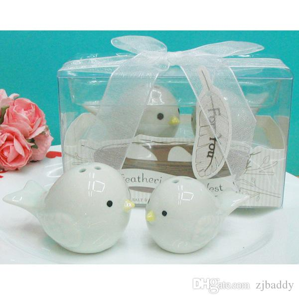 Baptism Souvenirs and baby shower favors Feathering the nest ceramic bird salt and pepper shakers 200sets/lot T