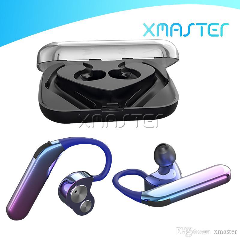 X6 بلوتوث TWS سماعات الأذن للماء IPX7 فاخر الرياضة سماعة الطاقة باس HIFI تصميم الصوت سماعة رأس مع ميكروفون حزمة البيع بالتجزئة xmaster