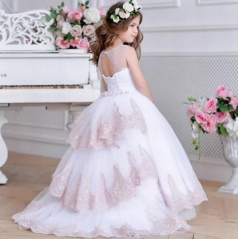 Compre Nuevo Estilo Princesa Pageant Flower Girl Dress Kids Wedding Party Cumpleaños De Dama De Honor Prom Niños Vestido Gna7 A 583 Del Tcdh01