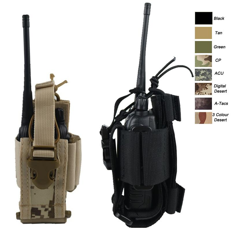 Outdoor Sports Tactical Backpack Vest Gear Accessory Mag Holder Cartridge Clip Pouch Tactical MOLLE Interphone Pouch NO11-527