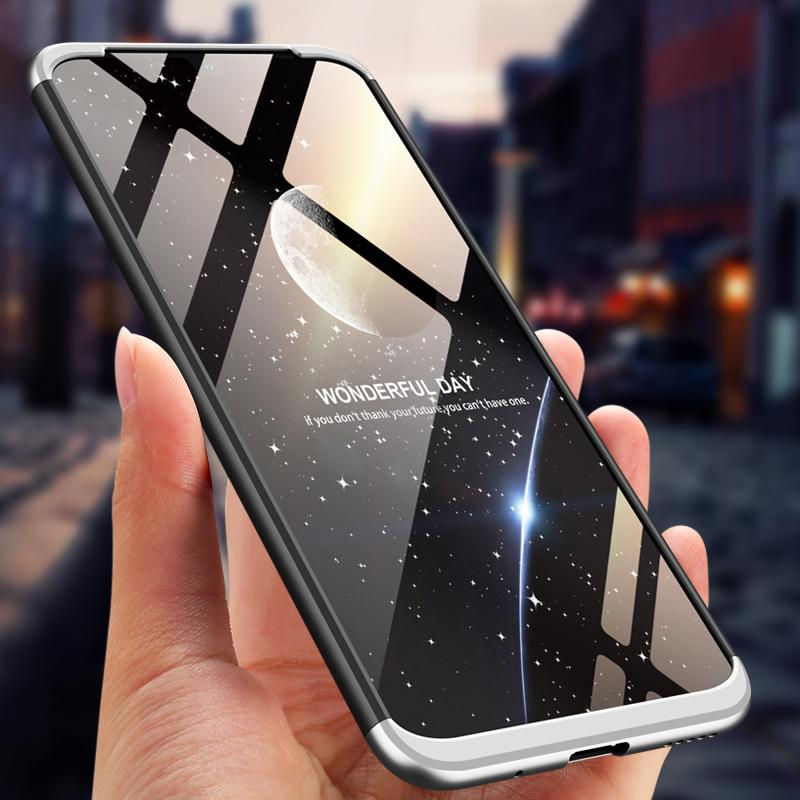 360 Degrees 3 in 1 Matte Case for Huawei Nova 5 Phone Shell Silicone Hard Full Protection Case