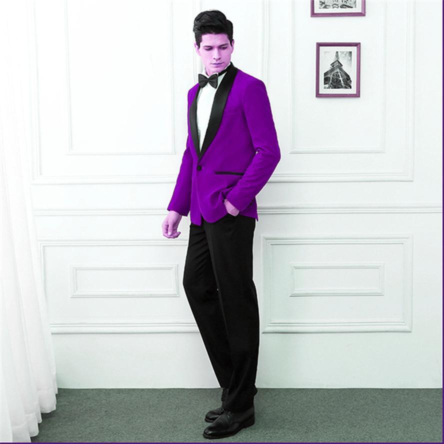 Classique Châle hommes mariage de marié de costumes hommes Lapel costumes de mariage tuxedo costumes pour hommes de hommes (veste + pantalon + cravate) W66