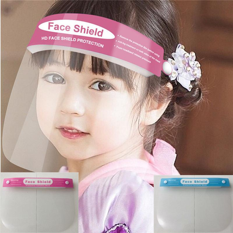 Stylisme Bouclier Visage Enfants adultes Masques transparent anti-buée anti-poussière Masques de protection multifonctionnel facial extérieur Couvertures
