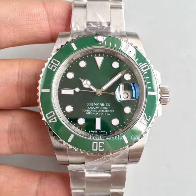 Nuovo N V9 Miglior svizzero Cal.3135 116610 Movimento automatico lunetta in ceramica verde Verde Quadrante 904L vigilanza d'acciaio blu luminoso uomo impermeabile Watch