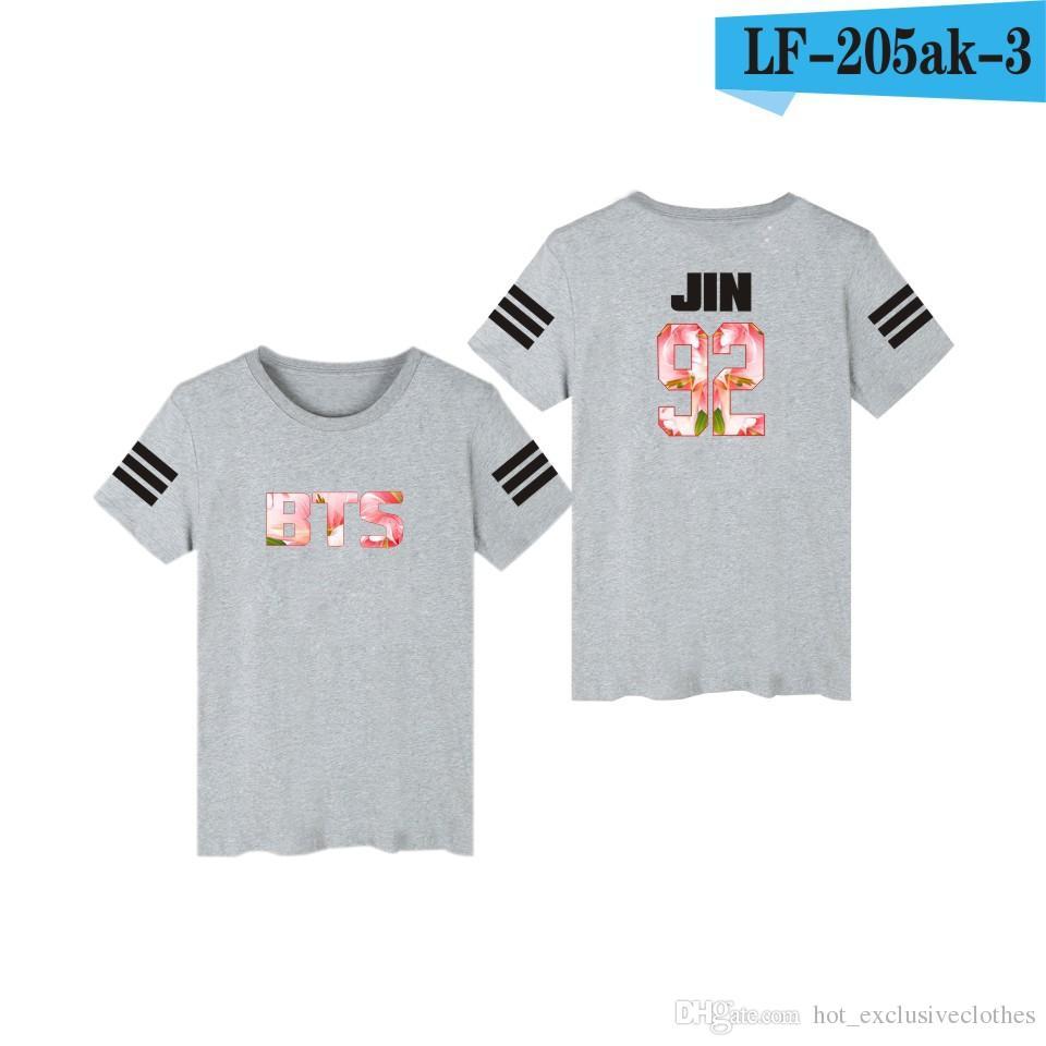 2019 groupe de vêtement BGA à l'épreuve des groupes de vêtement album de modèle de robe BTS même T-shirt