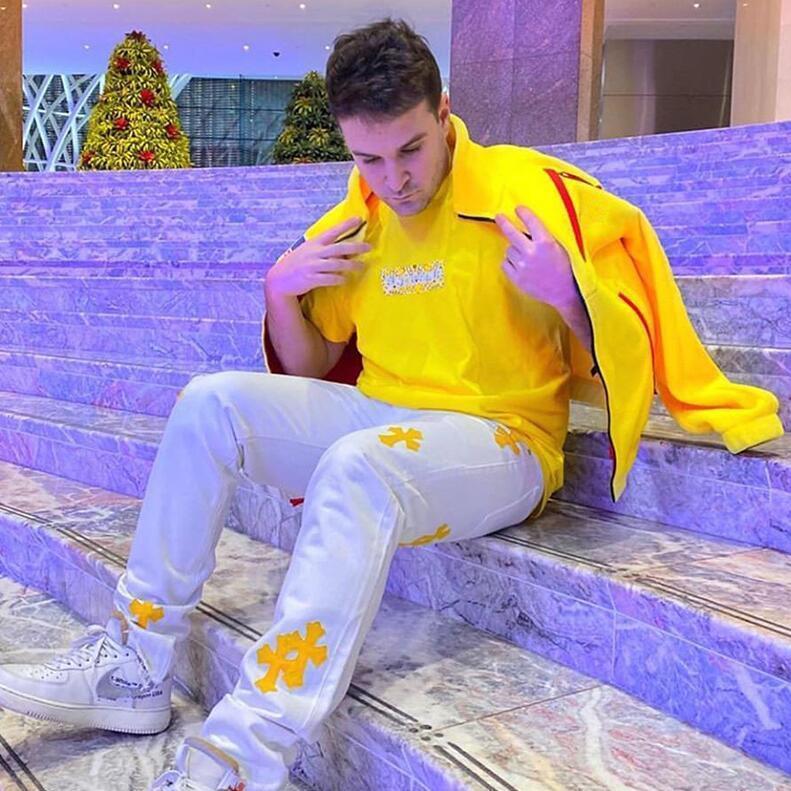 Le camice di Bandana Box Logo Tee 19FW Hip Hop Via Skateboard uomini e donne Maniche corte estate T