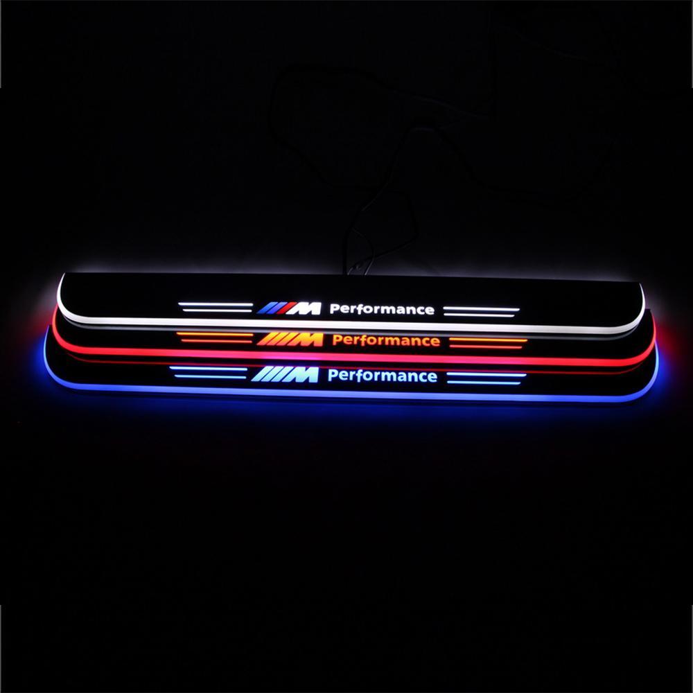 BMW F20의 F21 F22의 F23 F30의 F31의 F32 E82 E83 E87 E88 E90 E91 E92 E93 LED에 오신 것을 환영합니다 페달 자동차 스커프 플레이트 문 창턱 통로 빛
