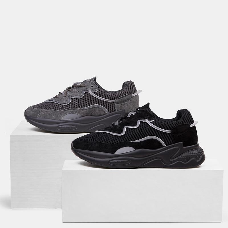 RY-relaa schwarz alte Schuhe Frauen ins Flut 2019 Herbst neuen Netto-roter Sport beiläufigen starken unteren Schuhe Turnschuhe