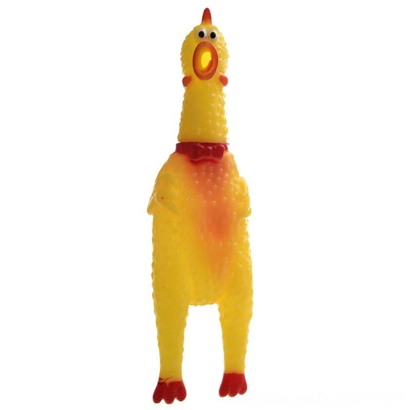 Giallo Rosso plastica morbida Spremere stridere di pollo Noisemaker di compressione della novità del bavaglio Giallo Rosso plastica morbida stridere di pollo Noisemakers novembre