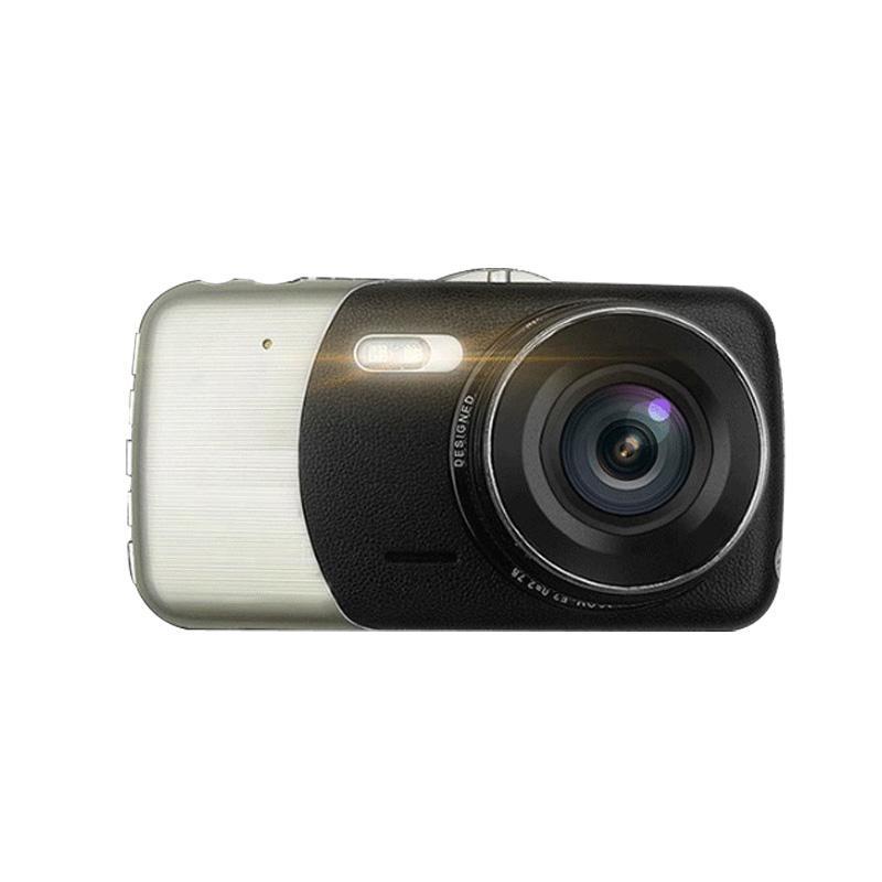 4.0 Inch Car DVR 1080P HD Dual Lens Car Detector LED Night Vision Reversing Rearview Mirror Dash Cam DVR Driving Recorder