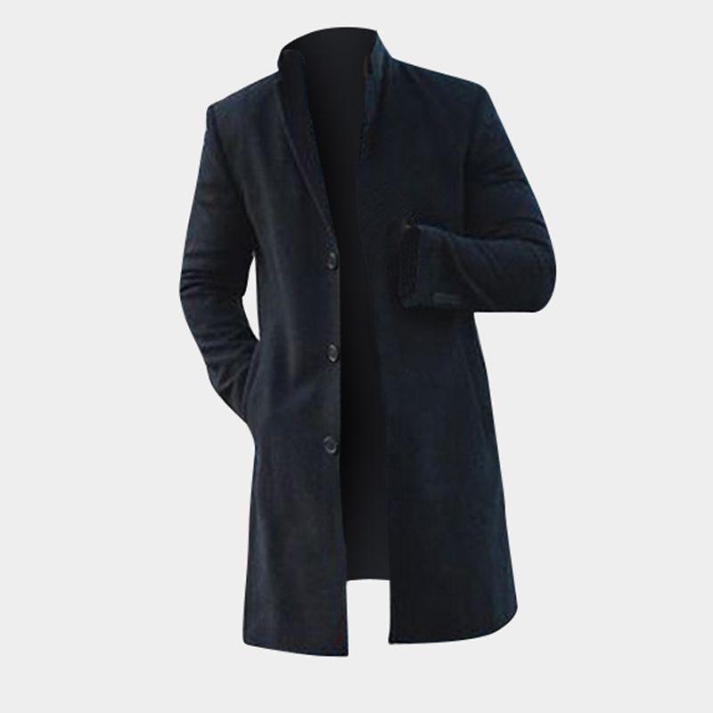 Großhandel Khaki Jacken Slim Chinos Herrenbekleidung Lange Lange 2019 Hombre Wintermantel Outwear Herren Outfit Fit Von JackenmäntelTrench Mäntel A54R3Lj