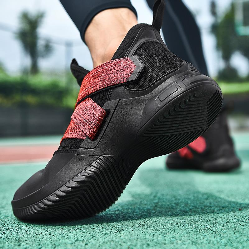 Jennifer 2019 Top Basketball Chaussures Sport professionnel Homme Sport Sneakers Coussin d'air respirable hommes Homme Chaussure