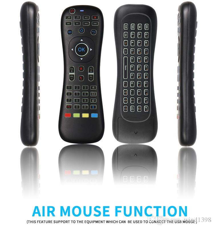 Jogo TK628 Fly Air Mouse Gyro Sensing Com o Controle por Voz 2.4GHz Microfone Controle Remoto Para Smart TV Box Android PC