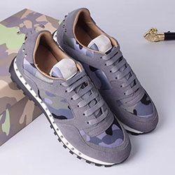 uomini del progettista di marca e scarpe delle donne maglia camuffamento cuciture scarpe da ginnastica borchiate concorrenza euryalina scarpe casual d0459