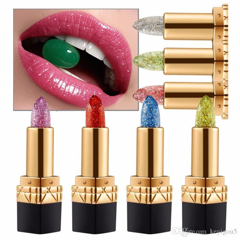 maquillaje Waterproof Bright Flower Crystal Jelly Lipstick Magic Temperature Change Color Lip Balm Makeup batom matte maquiagem