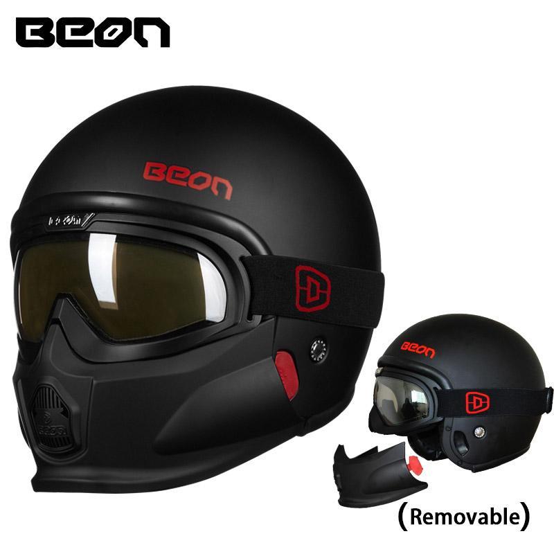 Yeni Beon Modüler Açık Yüz Kask Moto Casque Kasko Motocicleta Capacete Kask google çene ECE kask