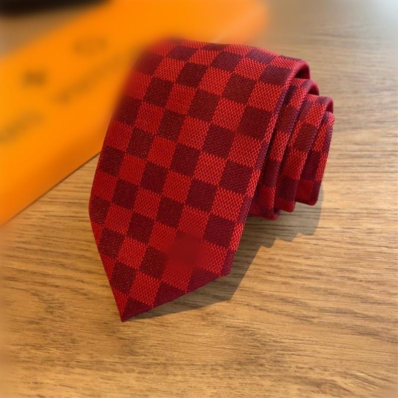 Красные Клетчатые Связи с Box Шелк высокого класса формальных Случаев Мужские галстуки Открытый бизнес Работа должна Галстуки Бесплатная доставка