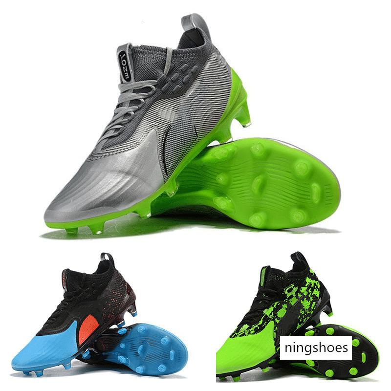 New Mens High Ankle Football Boots One 19.1 Limited Edition FGAG Soccer Shoes ONE19.1 HACKED PACK FG Soccer Cleats