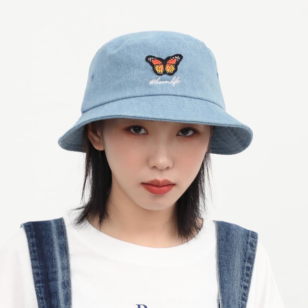 2020 female all-match water-washing male street fashion brand butterfly fisherman Fisherman Cowboy cowboy hat hat
