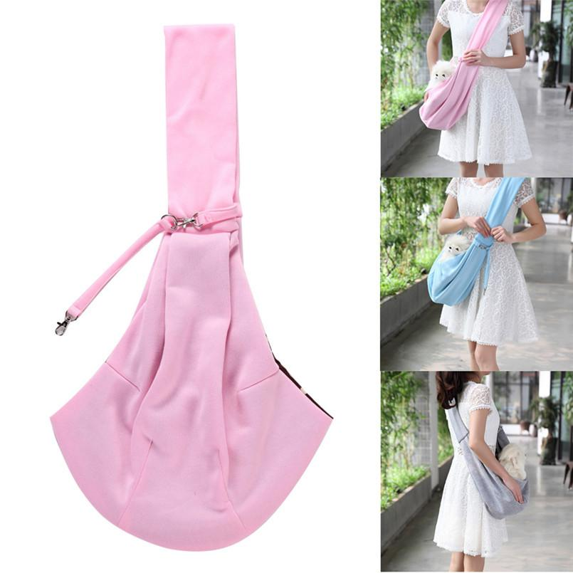 Double Sided Dog Bag For Small Dogs Pet Shoulder Carrier Handbag Reversible Cat Outdoor Carrier Mochila Perro 50JULY17