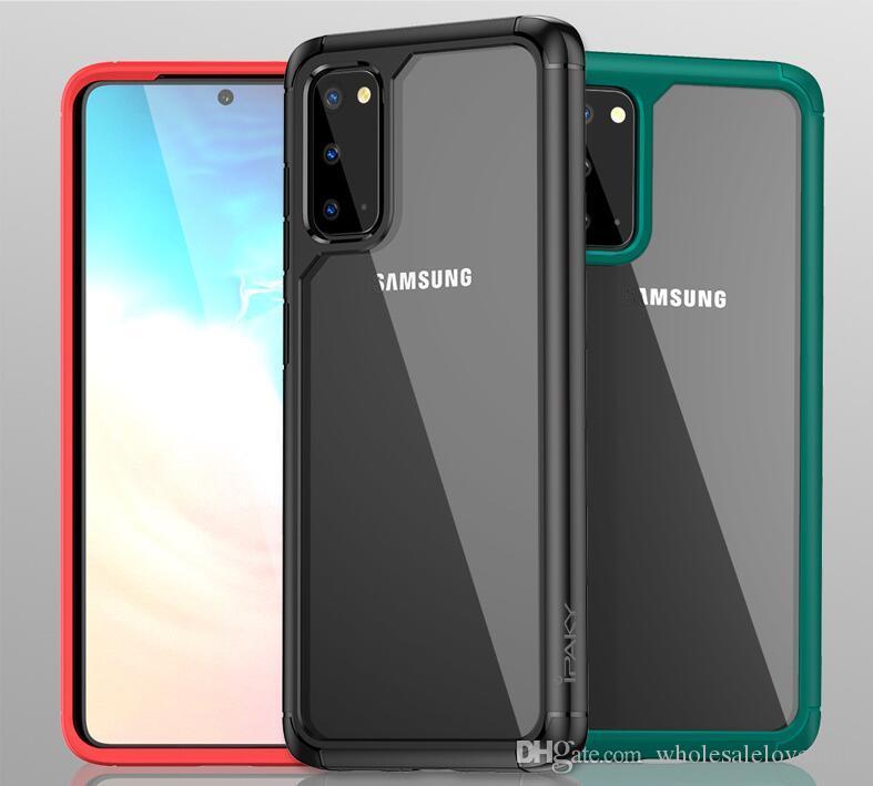 Adequado para Samsung S20 caso do telefone móvel anti-gota SAM20PLUS nova S20 caixa do telefone casos de telefone de luxo designer móveis transparentes Ultra