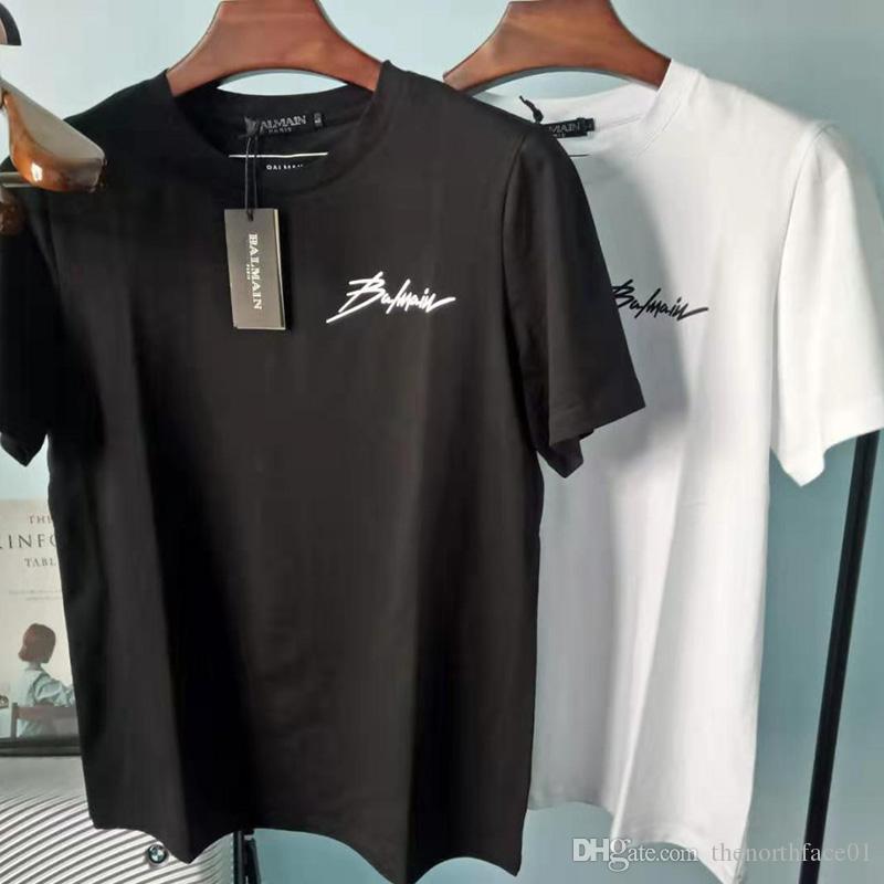 بالمن رجل المصمم تي شيرت أزياء الرجال والنساء جودة عالية المصمم قمصان بالمن باريس قميص حجم S-XXL