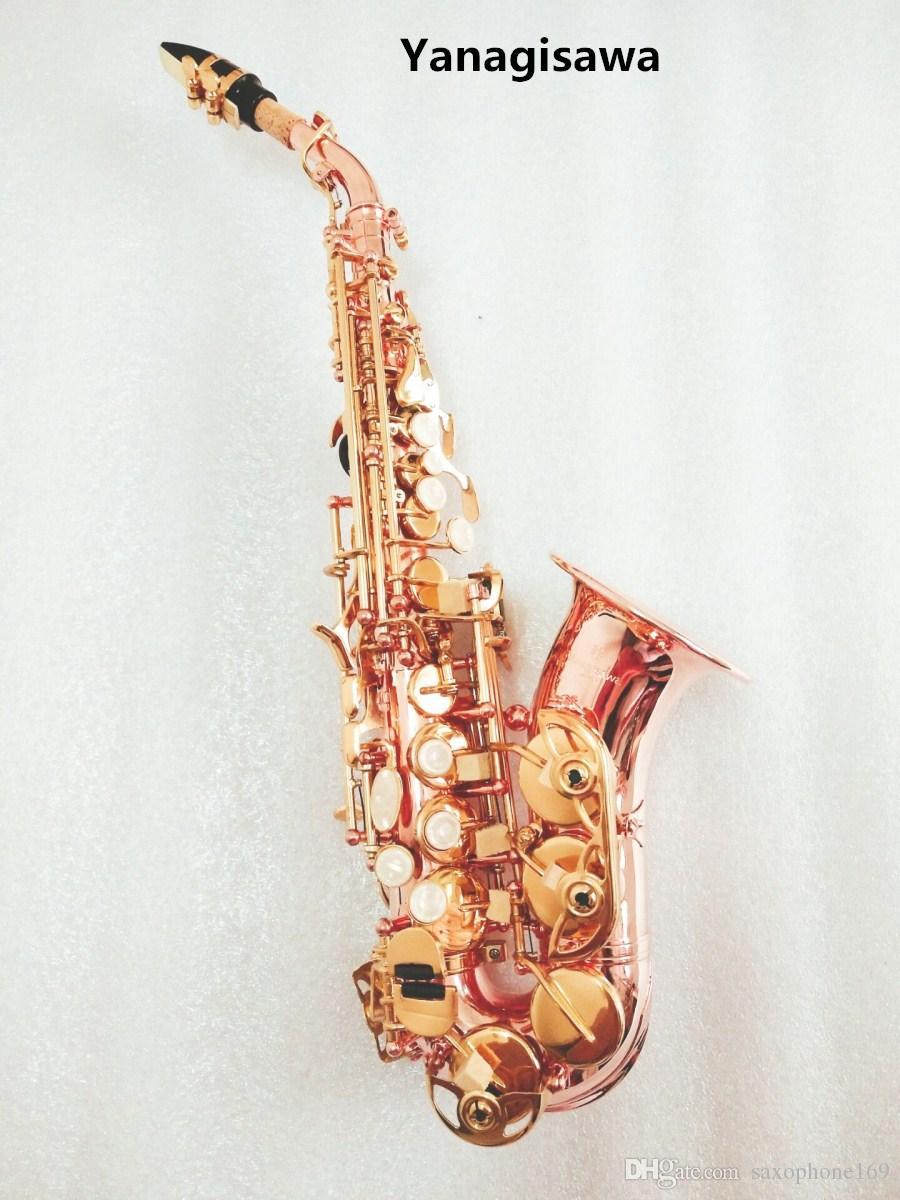 2019 curvo Nuevo Japón Yanagisawa Saxofón soprano Bb Fósforo cobre rojo Sax SC-992 Yanagisawa Promociones de instrumentos musicales