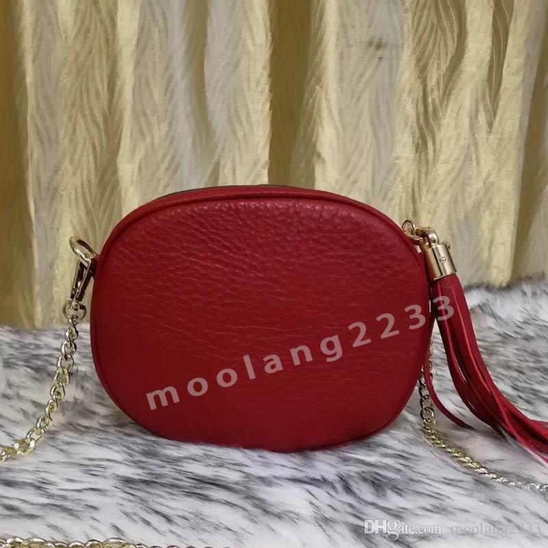 Designer Women Soho Bag High Quality Grain lines Luxury leather Crossobody Bags purse Tassel handbags clutch bag size 18*14*5cm