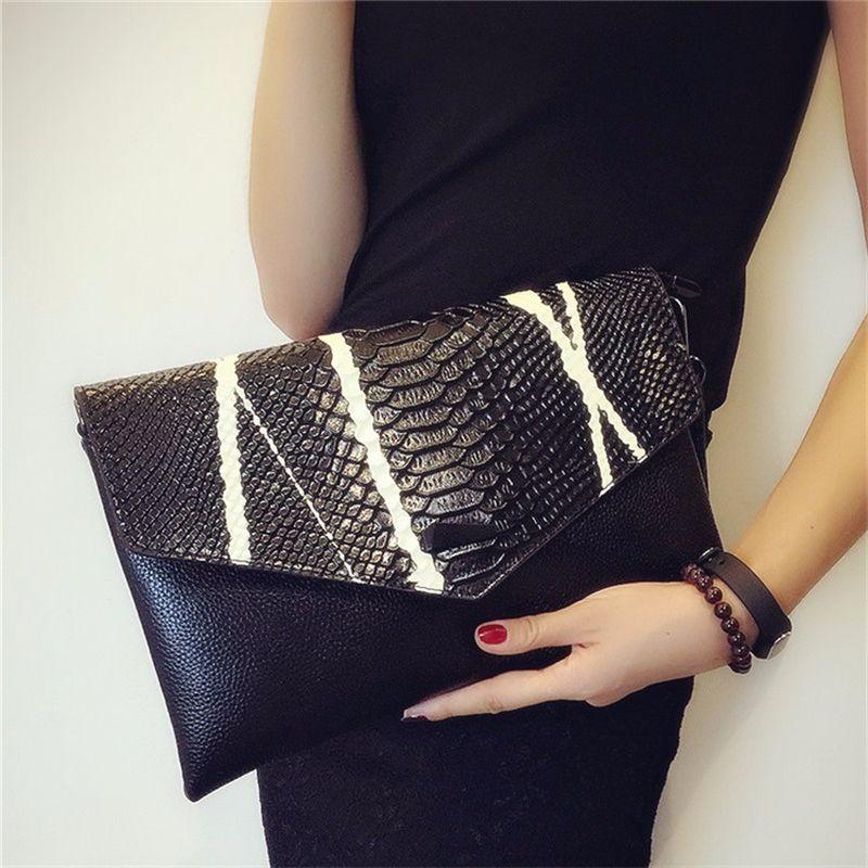 abc14a70d827 Female Clutch Bag 2018 New High End Crocodile Pattern Genuine Leather  Shoulder Envelope Bag Clutch Women Handbags Shopper Bags Purses Wholesale  From ...