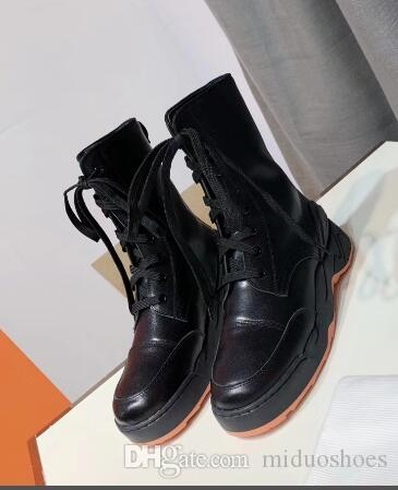 2019 Newest Feminine Martin boots fashion lace-up ankle boots Genuine leather platform heel autumn winter shoes women size 35-40