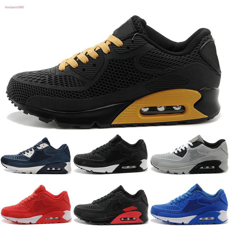 Nike air max 90 KPU 2020 Nouveau coussin d'air KPU Hommes Femmes Sport Chaussures de haute qualité classique Sneakers air bon marché Be True Sport Formateurs La course 40-45