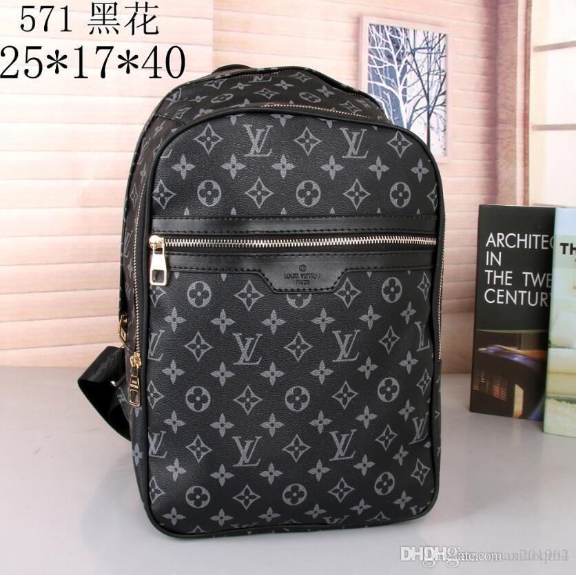 189 고품질 유럽 19 럭셔리 여성은 남성 가방 유명한 캔버스 남성 가방 여성의 여행 가방 배낭 디자이너 배낭 73
