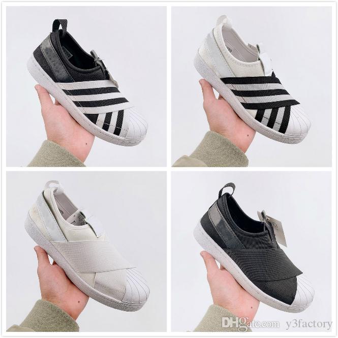 2020 унисекс скольжения на повседневная обувь белый черный дизайнер мужчины женщины ходьба кроссовки спортивные кроссовки 36-44