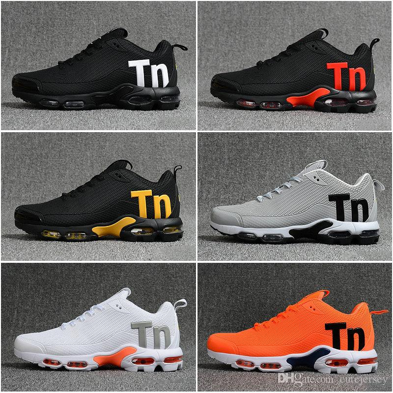 KPU Mercurial Além disso Tn Mens Chaussures SE Preto Branco Laranja Desinger Running Shoes Mulheres Trainers TNS Sports Sneakers Zapatos Tamanho 13
