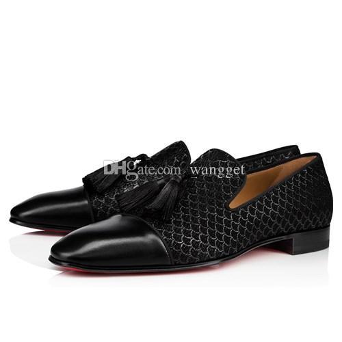 Novo vestido de festa de casamento deslizamento em sapatos de mocassins para homem dente-de-leão tassel tênis fundo vermelho oxford sapatos luxo homens lazer apartamentos
