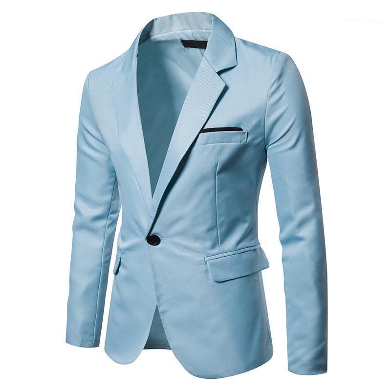 Шея блейзер мода с длинным рукавом костюмы с карманами зима мужская сплошной цвет одежды весна мужской V