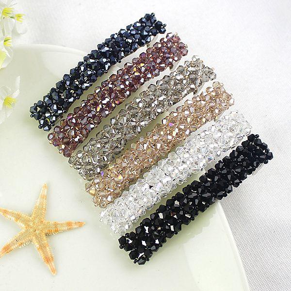 Accessories Rhinestone Headwear Hair Clips Crystal Hairgrip Triangle Hairpins