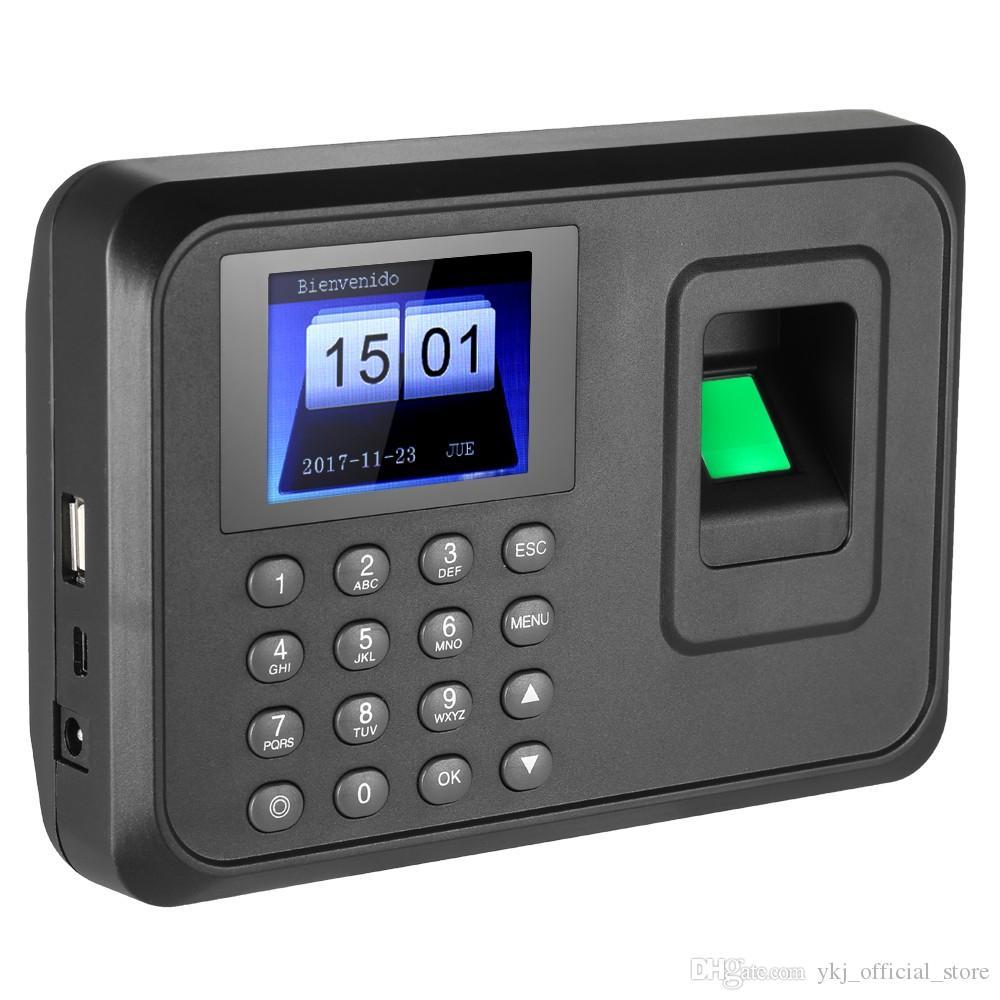 Senha Sistema de comparecimento do tempo biométrico de impressão digital Gravador de relógio Máquina de registro eletrônico de reconhecimento de funcionários do escritório