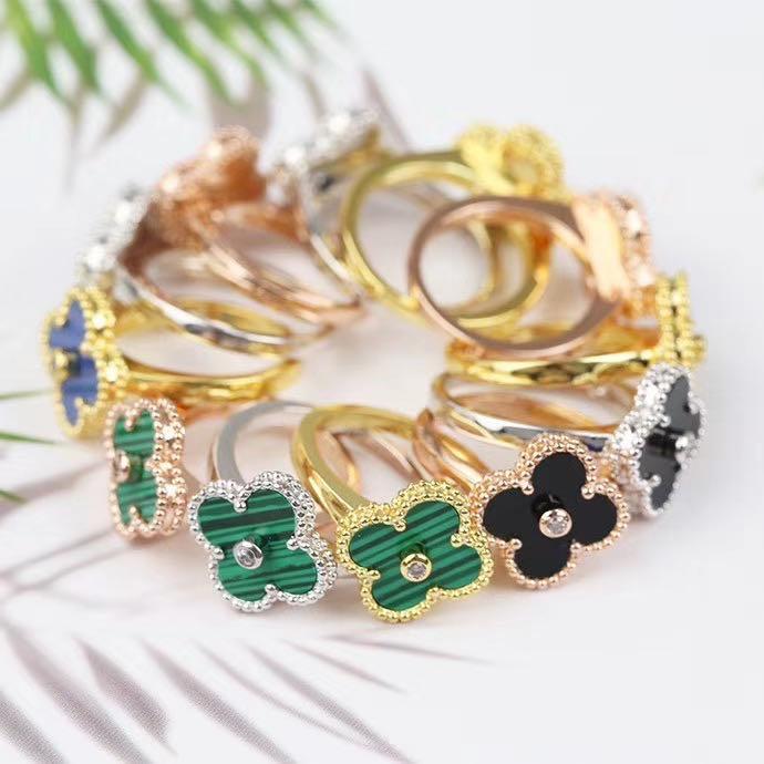 ارتفعت الأزياء والمجوهرات خواتم الخطبة خاتم زهرة الجملة للنساء الذهب خاتم الزواج BAGUES تصب نساء خاتم الخلود