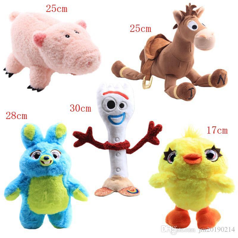 Hot Forky Bunny coniglio maiale cavallo all'ingrosso anatra peluche per i bambini migliori regali 17-30cm 5pcs / lot
